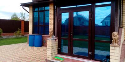 Тонировка стекол балкона